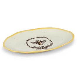 Abbott Bee Wreath Oval Platter