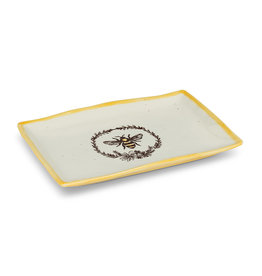 Abbott Bee Wreath Rectangular Platter