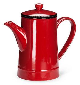 Abbott Enamel Tall Teapot - Red