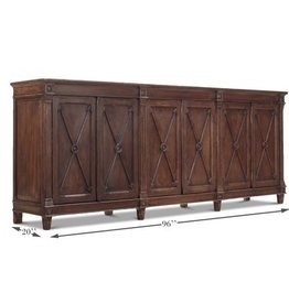 Sarreid Ltd Marksman Cabinet - Dark Brown