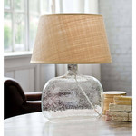 Seeded Oval Glass Table Lamp