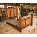 Western Heritage Black Ghostwood Plank Bed - Queen
