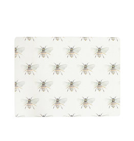 Harman Watercolour Bee Cork Backed Placemat S/4