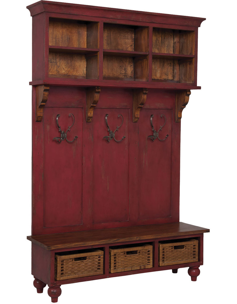 Guild Master Legacy Hall Tree - Red Distressed