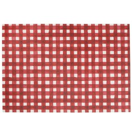 Harman Red Plaid Vinyl Placemat