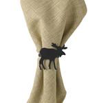 Park Design Black Moose Napkin Ring