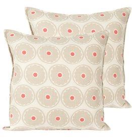 Candym Beige Circled Indoor/Outdoor Toss Pillow