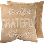 Thankful & Grateful Toss Pillow