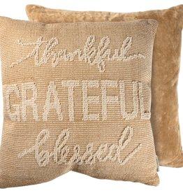 Candym Thankful & Grateful Toss Pillow