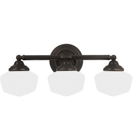 Feiss Academy 3-Light Sconce - Heirloom Bronze