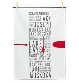 Abbott Muskoka Names Tea Towel