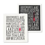 Abbott Muskoka Lakes Swedish Dishcloth Set