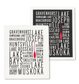 Abbott Muskoka Lakes Swedish DishCloth S/2