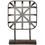 Style Craft Home Collection Galvanized Metal Sculpture