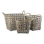 Tag ltd Oval Grey Basket -