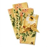 Tag ltd Bee Floral Yellow Napkin S/4
