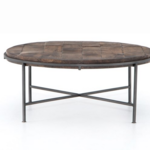 Four Hands Simien Round Coffee Table - GunMetal