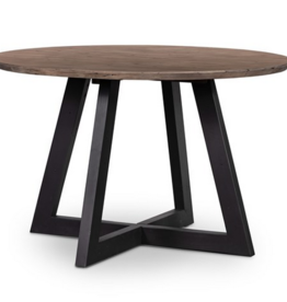 """Four Hands Viva Round Dining Table - 47"""" Sundried Ash"""