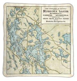Jaxx & Marbles Lake Rosseau & Lake Joe Map Blanket