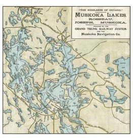 Jaxx & Marbles Lake Rosseau & Lake Joe Map Notecards