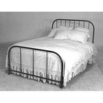 Corsican Double Iron Bed - White Gloss