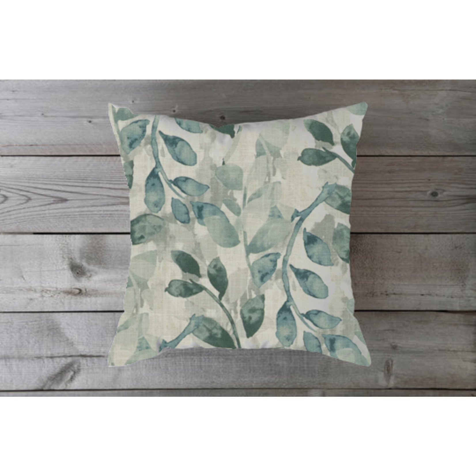 Large Spa Leaf Toss Pillow