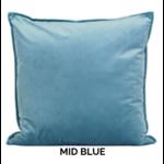 Dutch Velvet Toss Pillow - Mid Blue