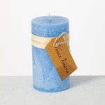 Crystal Blue Timber Candle