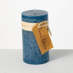 English Blue Timber Candle