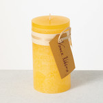 Pale Yellow Timber Candle