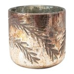 Etched Branches Tealight Holder