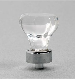 "Lee Valley Tools 1 1/8"" Crystal Knob with CP Base"