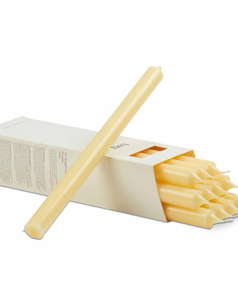 """Tag ltd 12"""" Straight Candle, Ivory"""