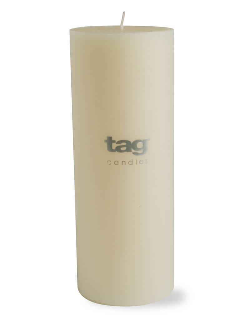 Tag ltd 3x8 Chapel Pillar Candle, Ivory
