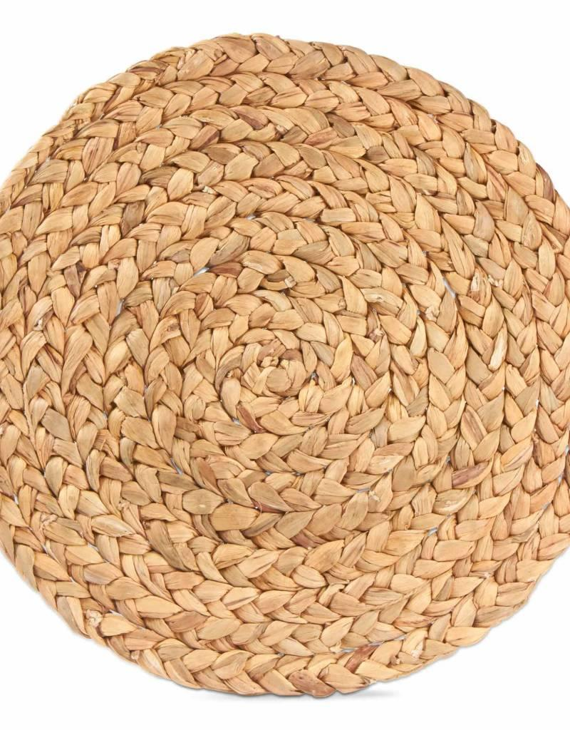 Tag ltd Braided Water Hyacinth Placemat, Natural