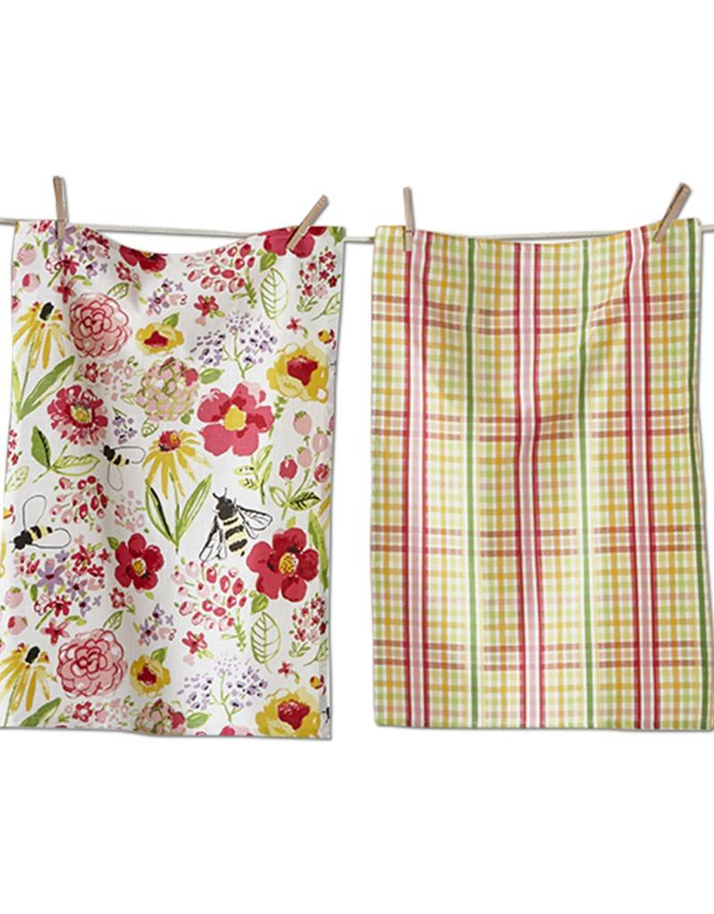Tag ltd Fresh Flower Garden Dishtowel Set of 2