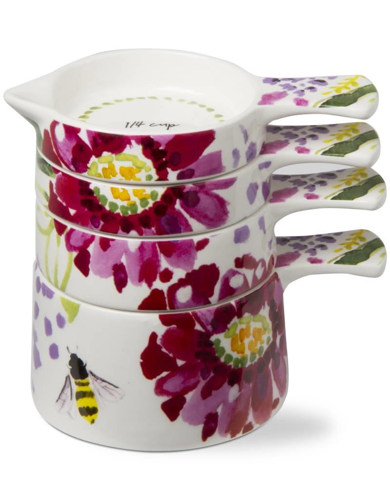 Tag ltd Fresh Flowers Measuring Cups Set of 4