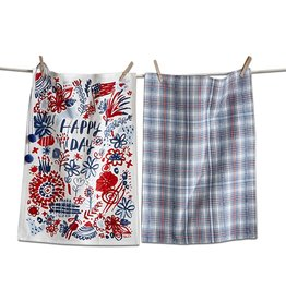 Tag ltd Happy Day Dishtowel Set of 2