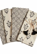 Tag ltd Henna Block Print Set of 4 Napkin Set