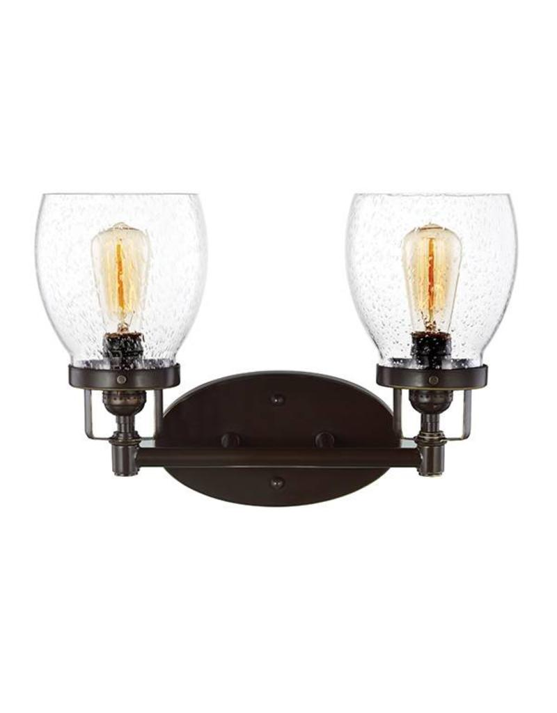 Seagull Lighting Sea Gull Belton 2 Light Bath Wall Sconce