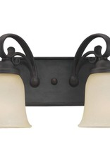 Seagull Lighting Sea Gull Del Prato 2-Light Wall Sconce - Bronze