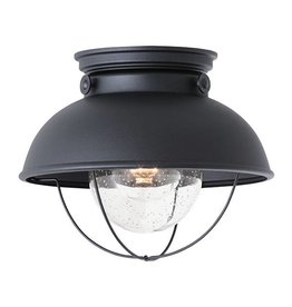 Seagull Lighting Sea Gull Sebring 1-Light Outdoor Ceiling Flush Mount