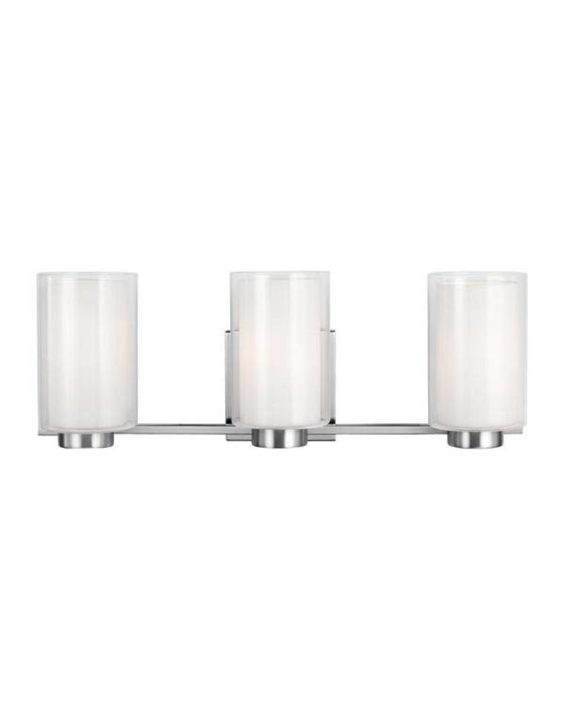 Feiss Feiss Bergin 3-Light Vanity Wall Sconce - Satin Nickel