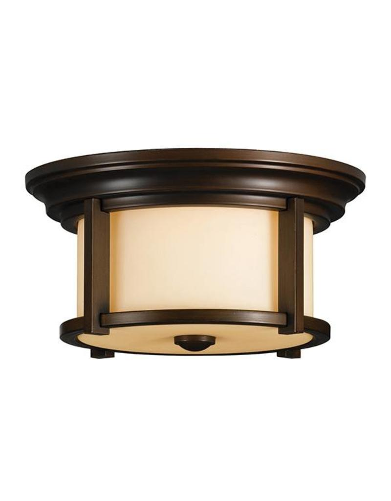 Feiss Feiss Merrill 2-Light Flush Mount - Heritage Bronze
