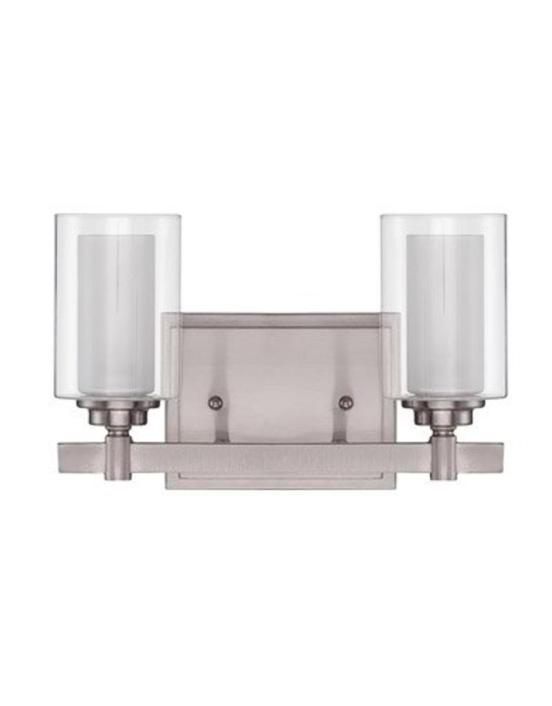Craft Made Craft Made Celeste 2-Light Vanity - Brushed Nickel