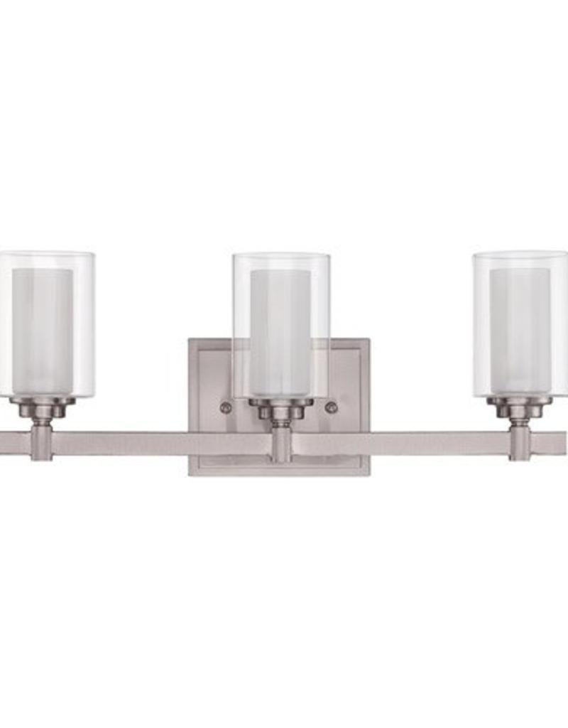Craft Made Craft Made Celeste 3-Light Vanity - Brushed Nickel