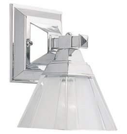 Seagull Lighting Sea Gull Chrome Bath Bar Wall Sconce