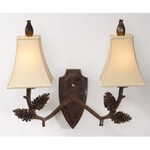 Deer Pine Two Light Wall Sconce