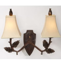 The Natural Light Deer Pine Two Light Wall Sconce
