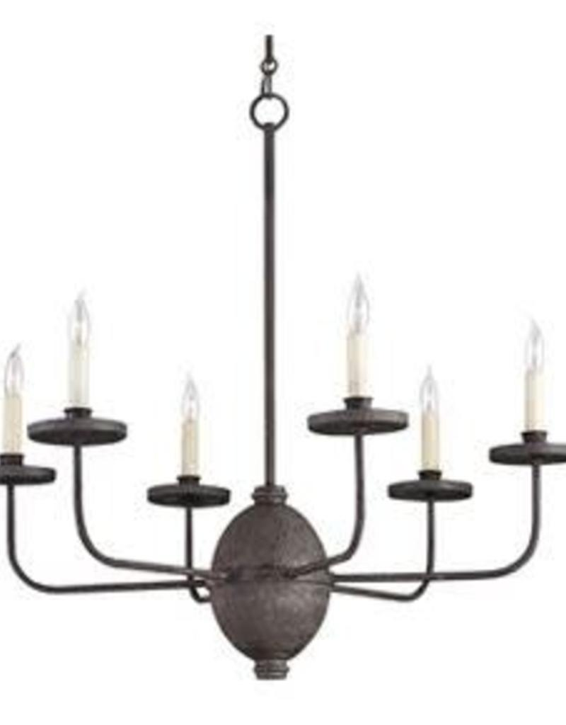 Currey & Co Currey and Company Mole Blackwell 6-Light Chandelier